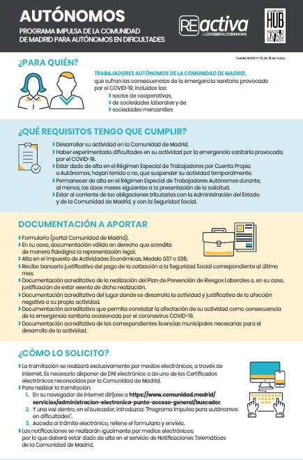 Plan impulsa autonomos comunidad de madrid